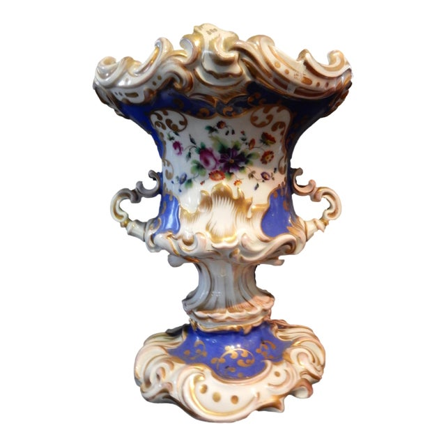 Antique 19th Vieux Paris Vase For Sale