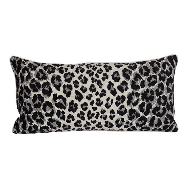 Black and White Cheetah Lumbar Pillow For Sale
