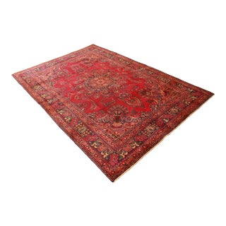 "Vintage Hand-Woven Persian Rug - 6'3"" X 9'3"" For Sale"