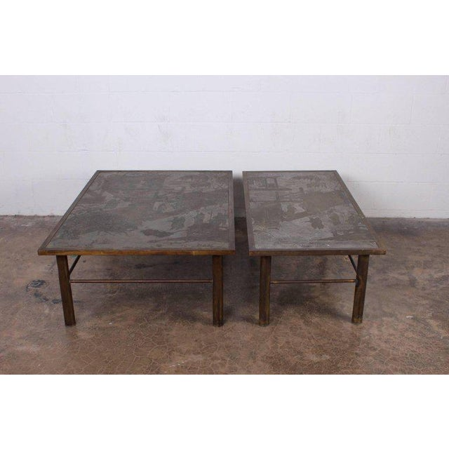 Gold Philip and Kelvin LaVerne Chan Coffee Table For Sale - Image 8 of 11