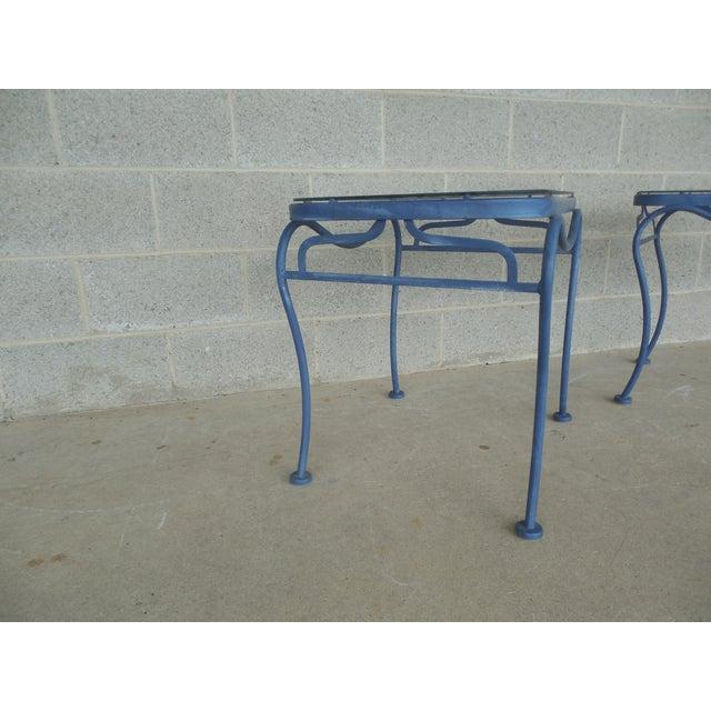 Vintage Woodard Hampton Park Pair Glass Top End Tables Model #1A052903 - Image 5 of 8