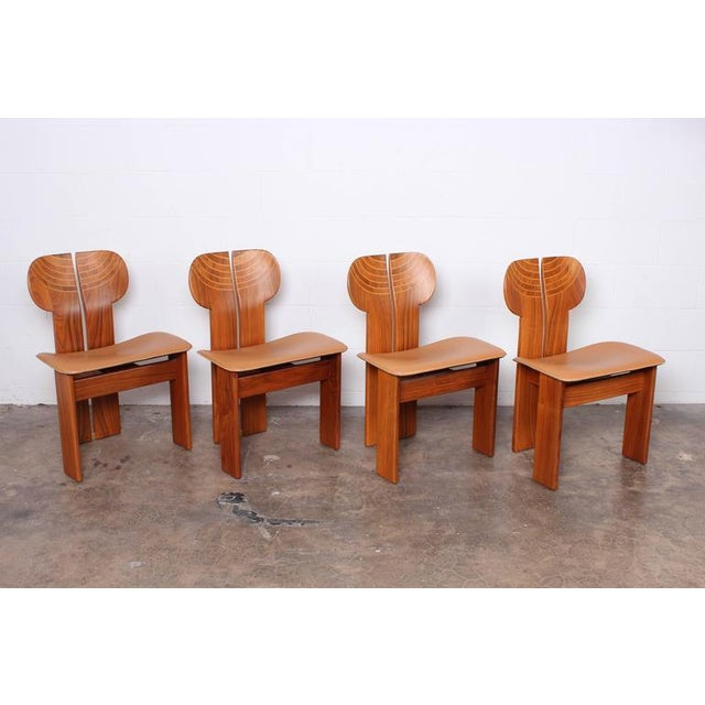 Four Africa Chairs by Afra & Tobia Scarpa - Image 10 of 10
