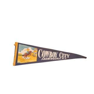 Cowboy City Farmingdale NJ Felt Flag For Sale