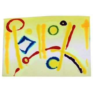 1982 Contemporary Jay Lefkowitz Abstract Watercolor Painting