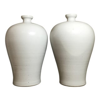 Chinese Ceramic Vases - A Pair For Sale