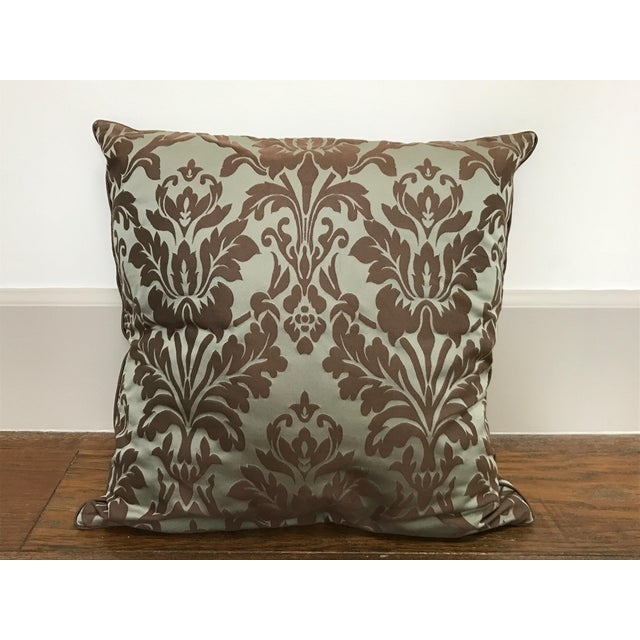 Throw Pillows Rust : Restoration Hardware Cotton Silk Damask Pillow Cover Chairish