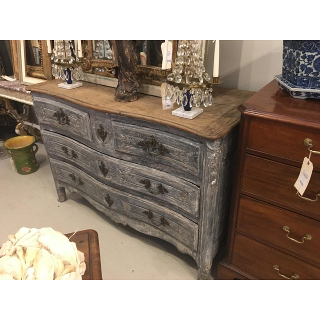 19th century French blue painted chest.