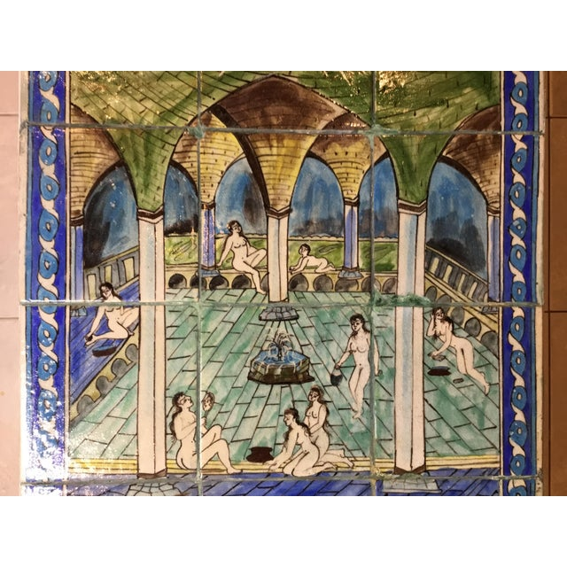 Vintage Persian Tile Top Coffee Table For Sale - Image 10 of 13