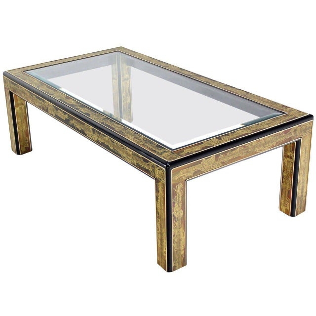 Acid-Etched Brass Coffee Table by Bernhard Rohne for Mastercraft For Sale - Image 10 of 10