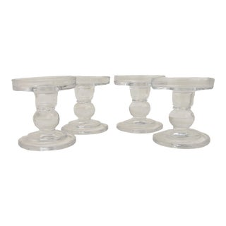 Taper & Pillar Glass Candleholders, Set of 4 For Sale