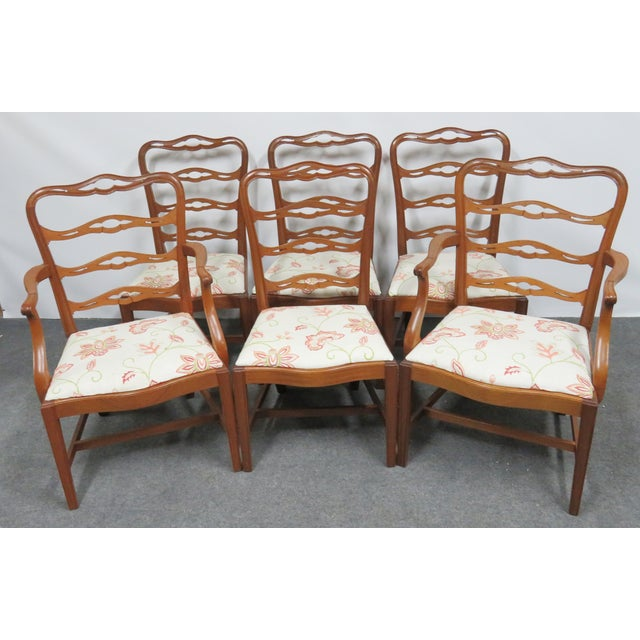 Chippendale Saybolt & Cleland Ribbonback Mahogany Dining Chairs - Set of 6 For Sale - Image 10 of 10
