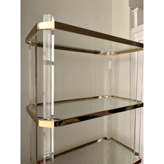 Vintage Hollywood Regency Lucite & Brass Etagere Preview