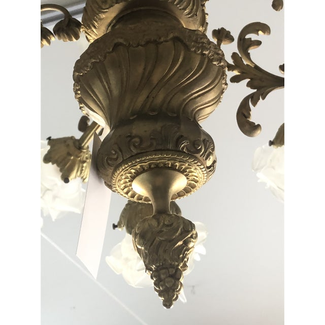 Rococo 18-Light Cast Gilt Bronze Chandelier For Sale - Image 10 of 12
