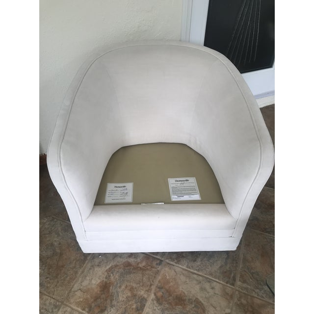 2010s Thomasville Sutton Barrel Back Swivel Chair For Sale - Image 5 of 7