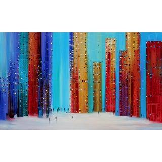 """Scraping the Night Sky"" Original Artwork by Ekaterina Ermilkina For Sale"