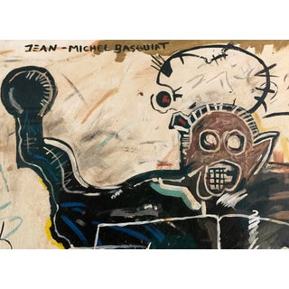 Jean Michel Basquiat Style Abstract Painting For Sale