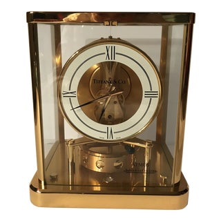 Hollywood Regency Tiffany Atmos Clock For Sale
