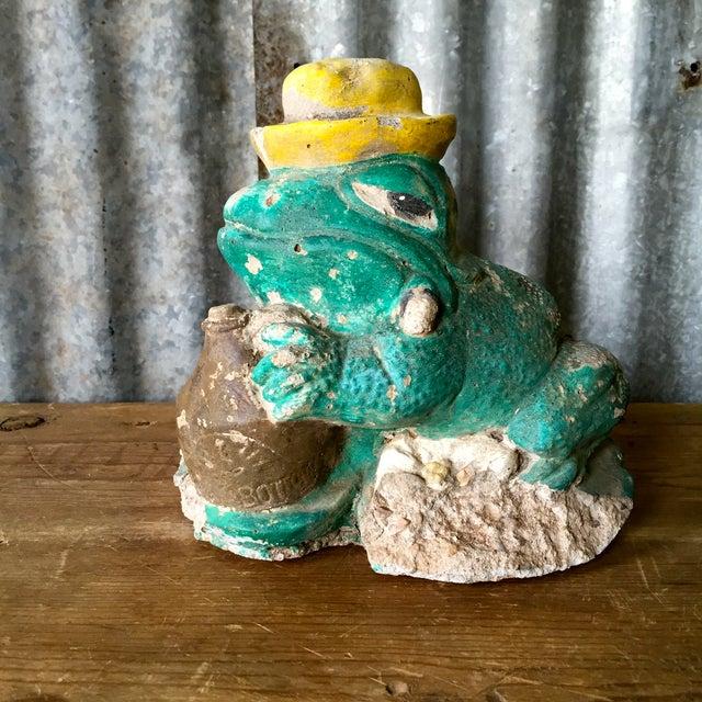 Vintage Concrete Frog - Image 2 of 8