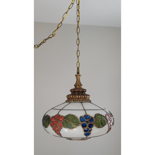 Details about this retro lamp: Lamp switches on with a rotating switch Equipped with an 18' chain & cord Beautiful white...