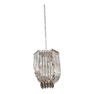 Vintage Mid-Century Lucite Ribbon Chandelier