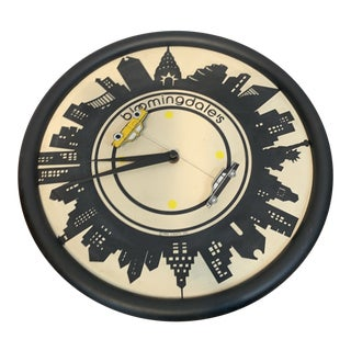 1980s Vintage Canetti Bloomingdales New York City Taxi and Limo Theme Wall Clock For Sale