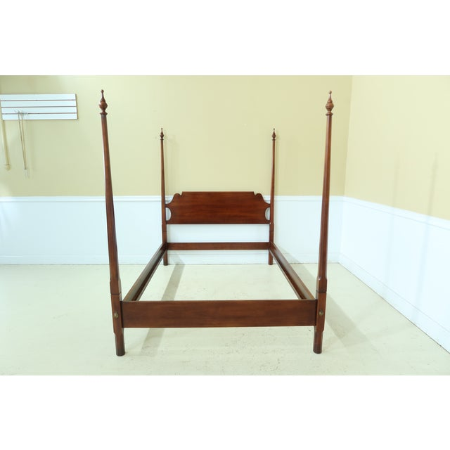 Statton Old Towne Cherry Full Size Poster Bed For Sale - Image 9 of 9