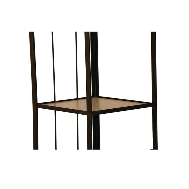 1950s Mid-Century Fredrick Weinberg Iron Étagère Shelving Unit For Sale - Image 5 of 12