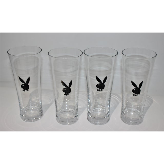 Black Playboy Party Collection - High and Low Glassware, Coasters Napkins, Bunny Pics -9 Items Pcs - Set of 89 For Sale - Image 8 of 12