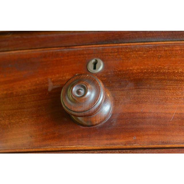 Wood Mahogany Bow Front Chest For Sale - Image 7 of 10