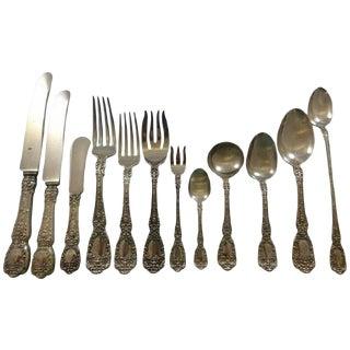 Florentine by Gorham Sterling Silver Flatware Set 12 Service 195 Pcs Dinner For Sale