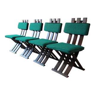 Harvey Probber Mid-Century Modern X-Base Dining Chairs - Set of 4 For Sale