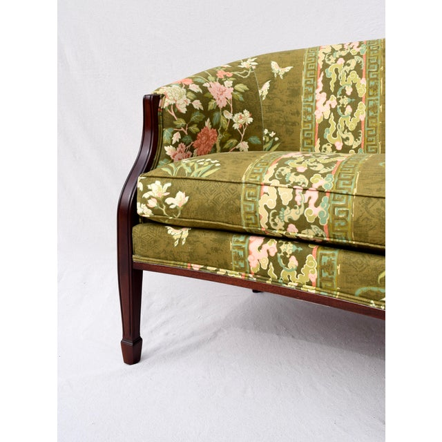 Wood Hickory Chair Federal Hepplewhite Style Sofa For Sale - Image 7 of 13