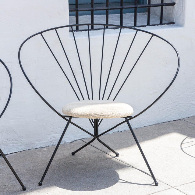 Mid-Century Modern 1953 Robert Kasindorf Iron Hoop Chairs - a Pair For Sale - Image 3 of 9