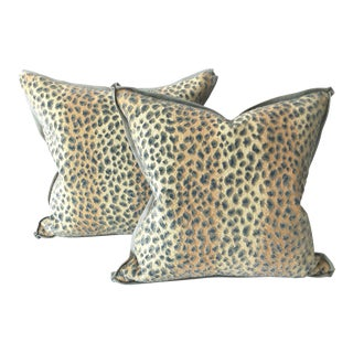 Custom Cowton & Tout Ocelot Pillows - a Pair For Sale