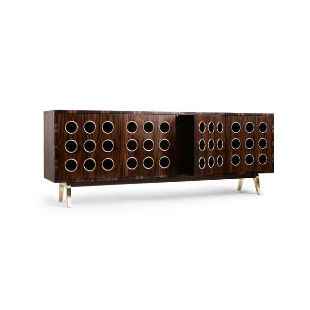 Art Deco Marsailles Ebony 4-Door Credenza For Sale - Image 3 of 7