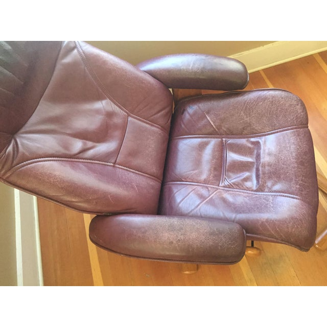 Hjellegjerde Mobler Reclining Lounge Chair and Ottoman - Image 5 of 11