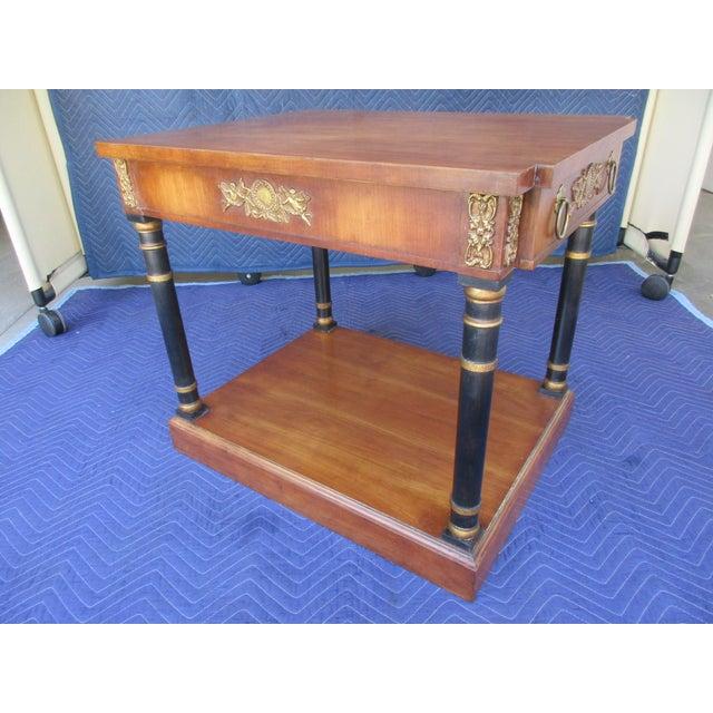 Fine Arts Furniture Side Table With Ornate Cherub Motif For Sale - Image 6 of 13