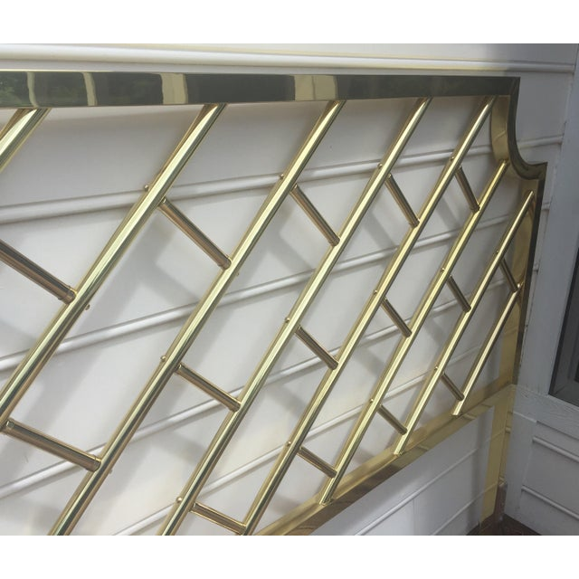 Asian Chippendale Style Brass King Headboard For Sale - Image 3 of 9