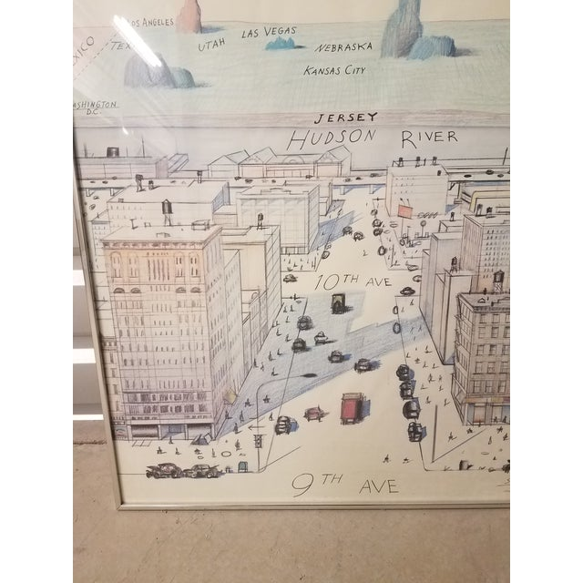 1970s The New Yorker Saul Steinberg Art Print For Sale - Image 5 of 8