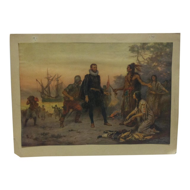 """Mounted, Vintage Color Print, """"The Offering"""" For Sale"""