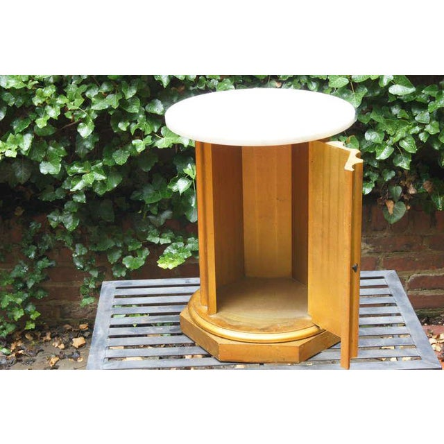 Marble Column Side Table For Sale In Richmond - Image 6 of 11