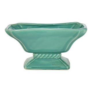 Mid 20th Century Aqua Green Rectangular Planter For Sale