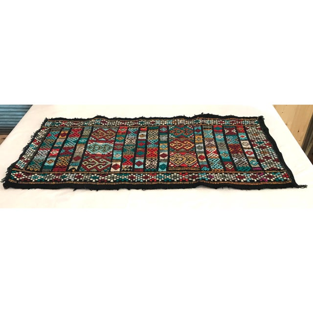 Mid 20th Century Vintage Woven Table Runner Rug- 3′4″ × 1′7″ For Sale - Image 4 of 9