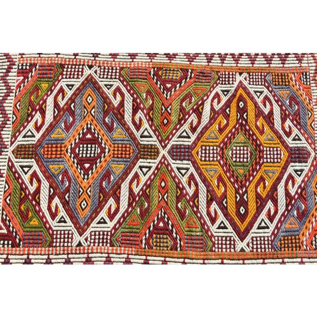 Anatolian Tribal Embroidered Kilim Area Rug -2′6″ × 3′10″ - Image 5 of 6