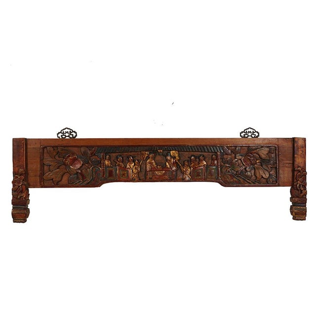 Astonishing Antique Chinese Red Lacquered Gilt Carved Wooden Panel Gmtry Best Dining Table And Chair Ideas Images Gmtryco