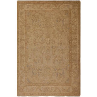Shabby Chic Ziegler Sun-Faded Ruthie Beige Wool Rug -7'9 X 10' For Sale