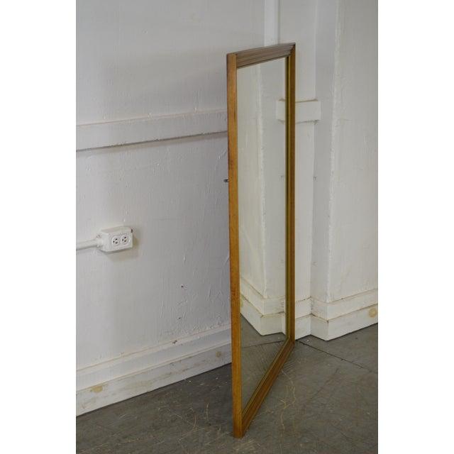 Traditional Henredon Vintage Walnut Frame Rectangular Wall Mirror For Sale - Image 3 of 11
