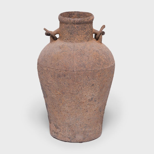 Metal 19th Century Chinese Cast Iron Vessel For Sale - Image 7 of 7