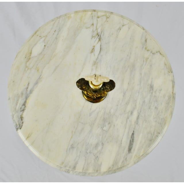 Mid 20th Century Hollywood Regency j.b. Van Sciver Co. Marble Top Table For Sale - Image 5 of 13