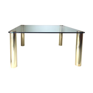 Pace Collection Solid Brass Cylinder Mammoth Table For Sale